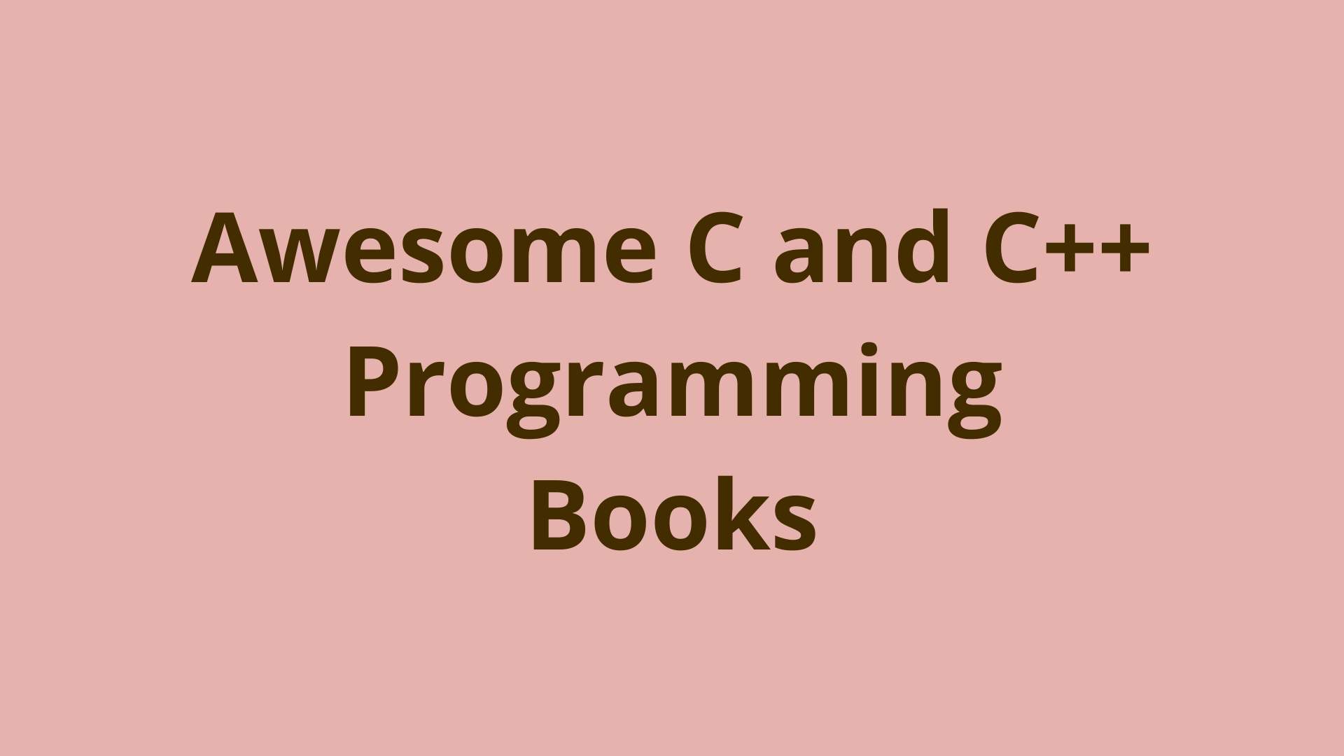 Image of List of awesome C and C++ programming books