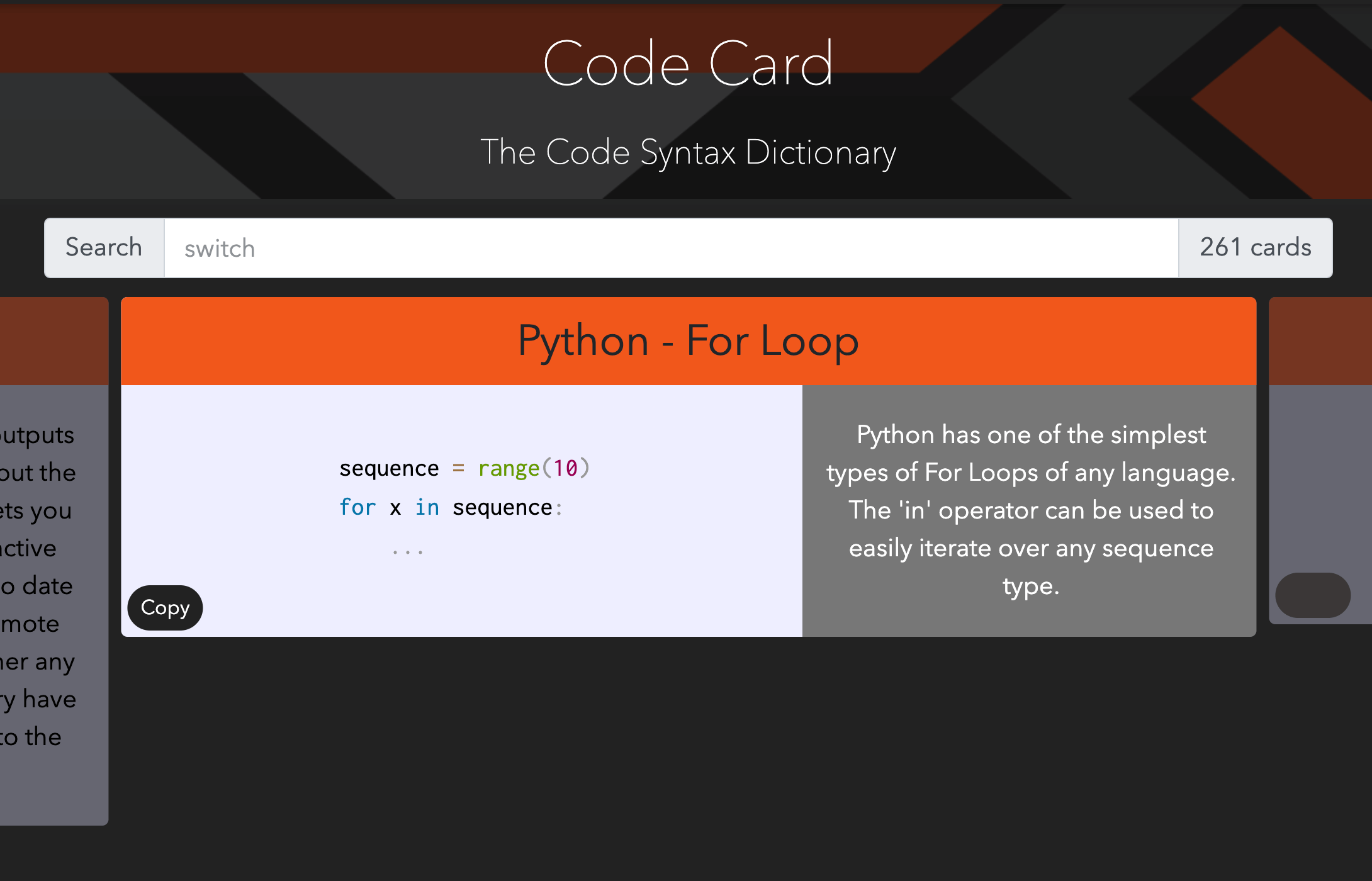 Image of the Code Card project