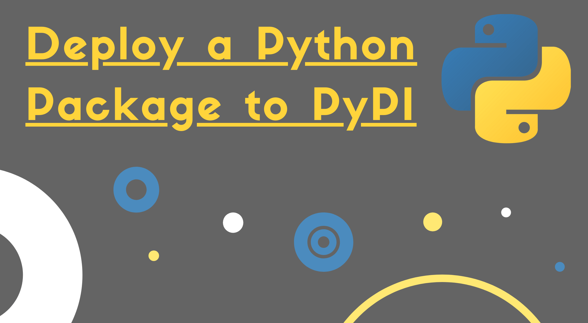 Image of Deploy a python package to PyPI