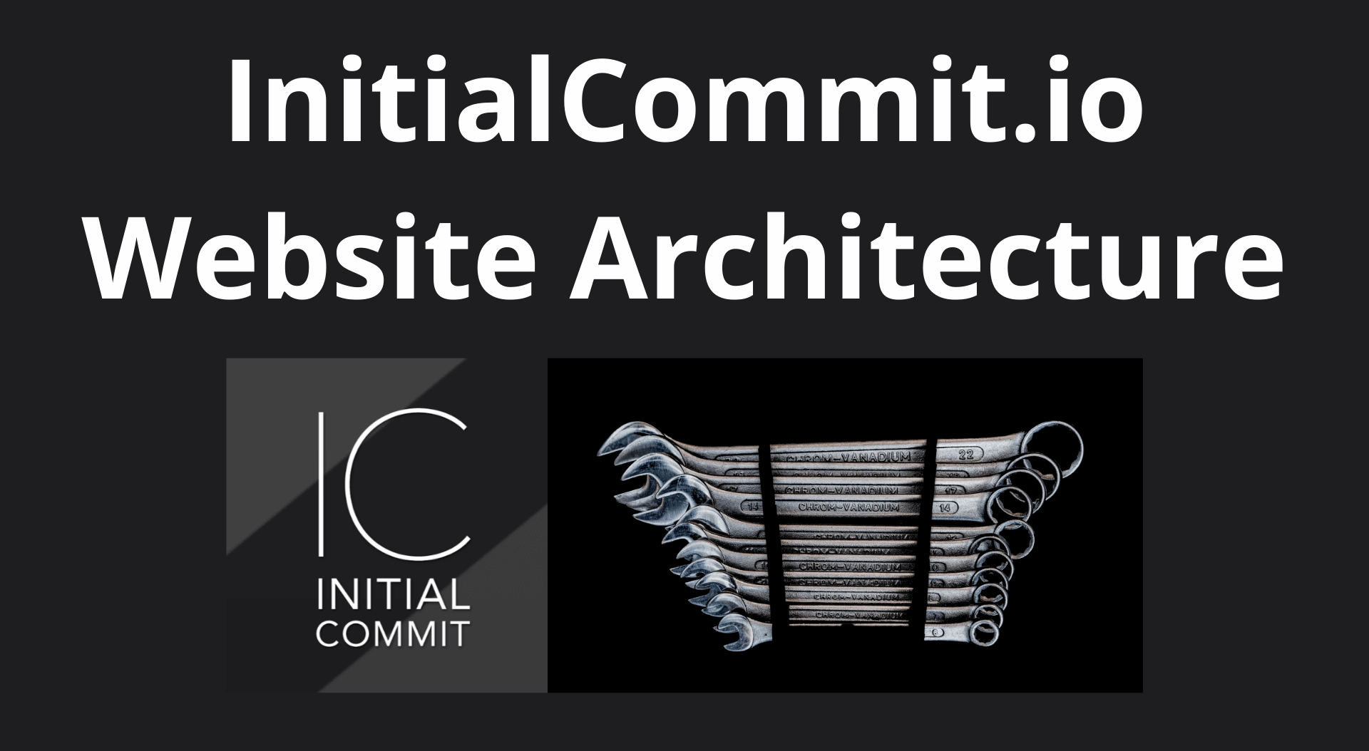 Image of InitialCommit.io Website Architecture Overview