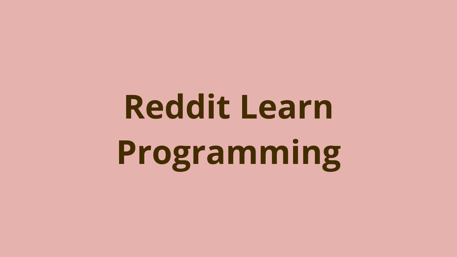Image of Reddit Learn Programming