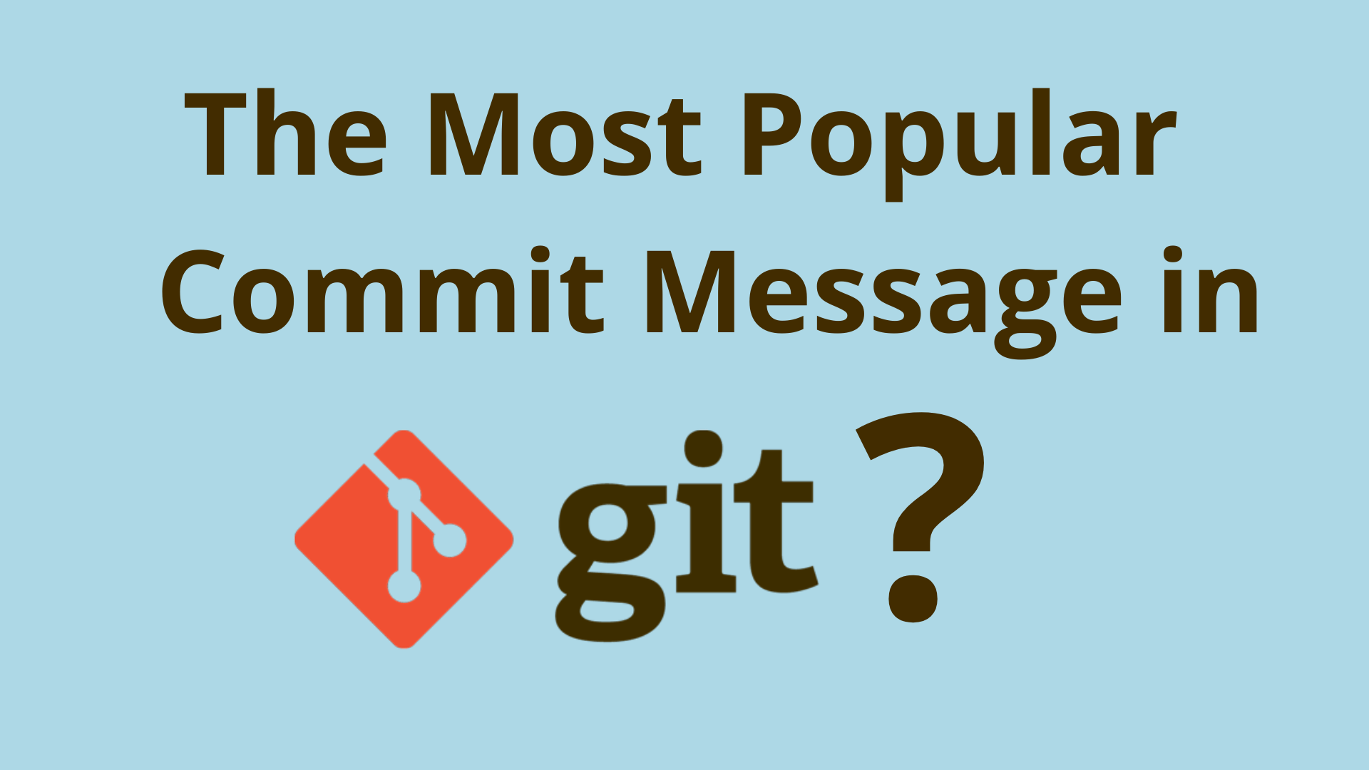 Image of What is the most popular initial commit message in Git?